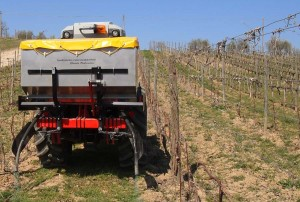 variable rate spreader for vine growing
